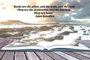 Anna Quindlen quote graphic books are the road